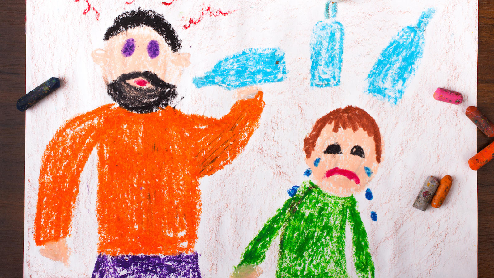 The guilt carried by children of alcoholics